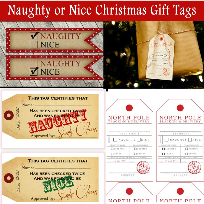 Naughty Or Nice Christmas Gift Tags Printables 4 Mom