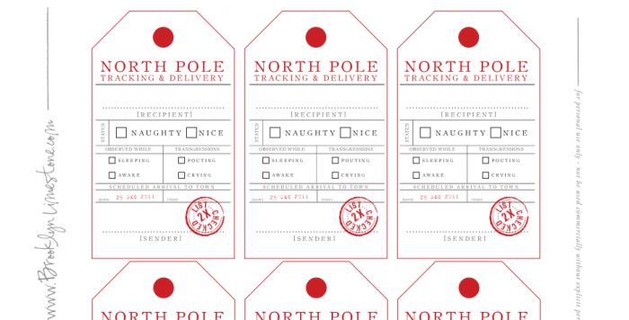 Naughty or nice christmas gift tags printables 4 mom thanks to brooklyn limestone you can gather your own list check it twice and gift in style negle Choice Image