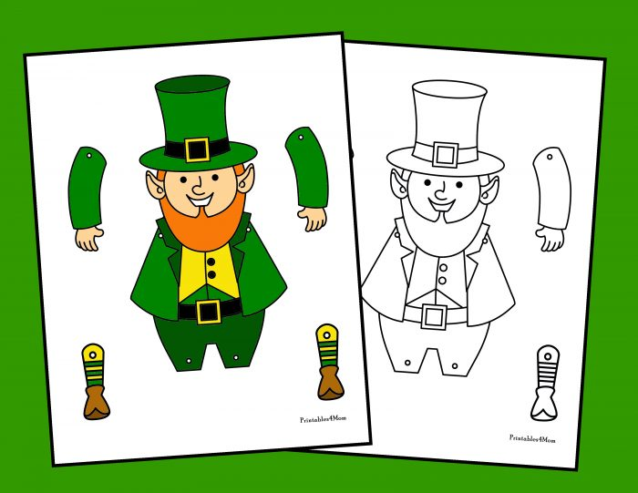 photo about Leprechaun Feet Printable identify Movable St. Patricks Working day Craft Printable - Printables 4 Mother
