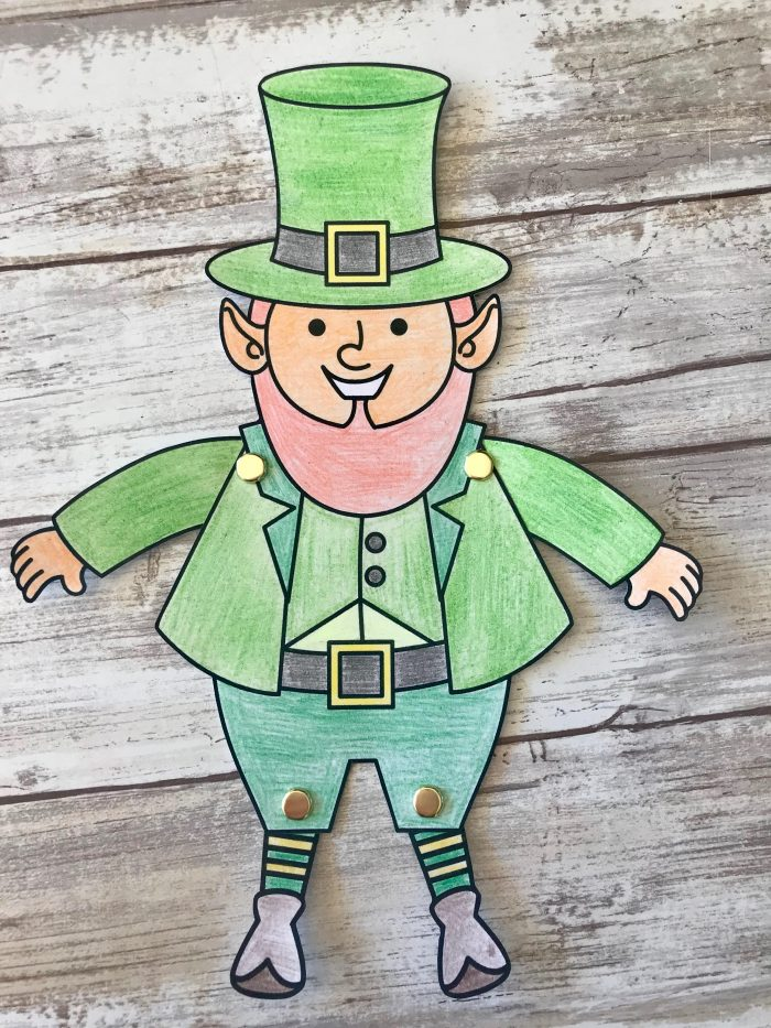 picture regarding Leprechaun Cut Out Printable identify Movable St. Patricks Working day Craft Printable - Printables 4 Mother