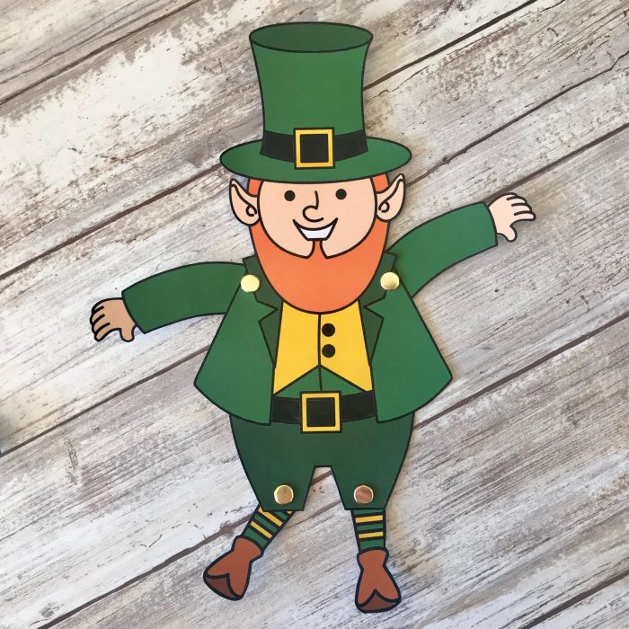 photo relating to Leprechaun Feet Printable titled Movable St. Patricks Working day Craft Printable - Printables 4 Mother