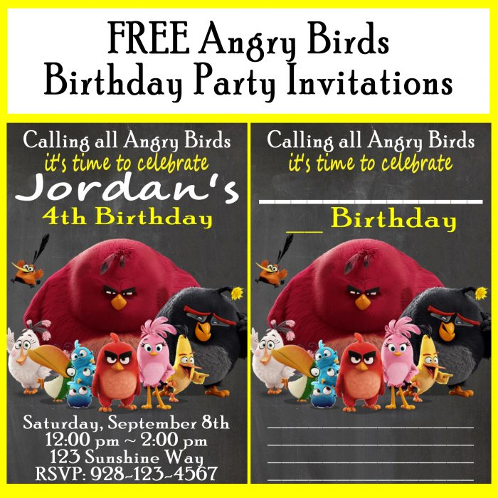 Free Angry Birds Printables Customizable Birthday Party Invitations