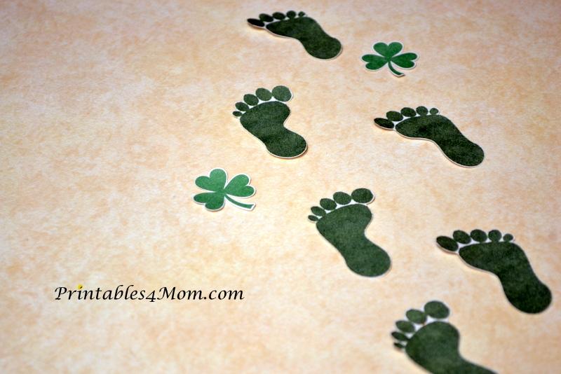 Declarative image for leprechaun feet printable