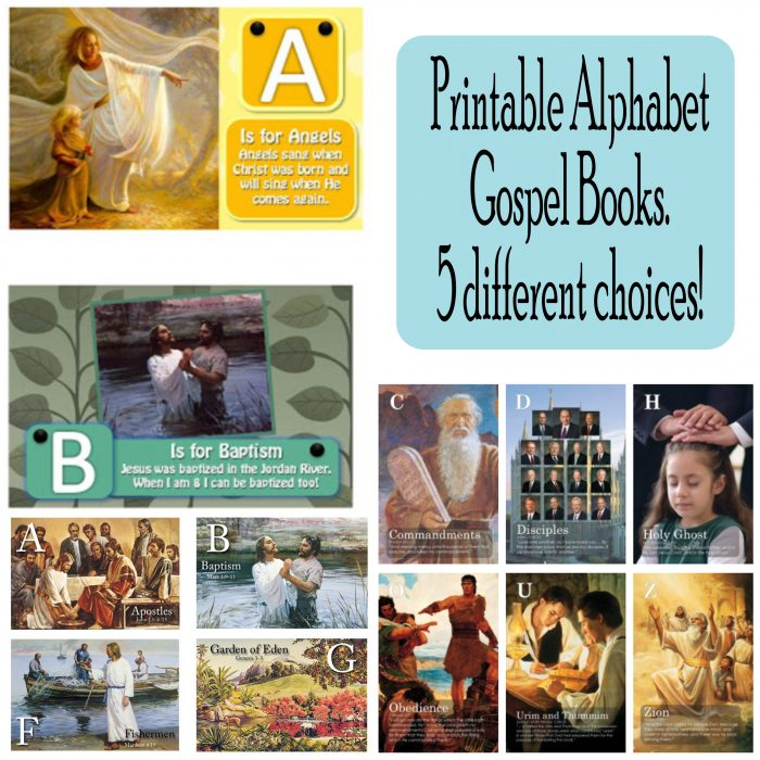 Printable Alphabet Gospel Book - 5 Awesome Choices! Free Printables