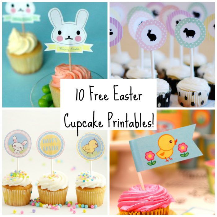 Free Easter Cupcake Topper