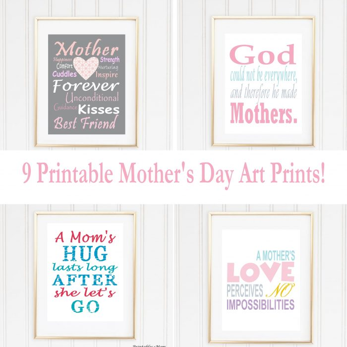 Free Printable Mother's Day Subway Art Prints