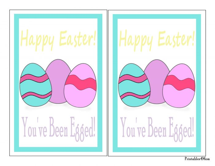image about You've Been Egged Printable titled Youve Been Egged Signal-001 - Printables 4 Mother