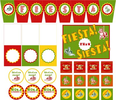 Free Printable Food Name Tags For Cinco De Mayo