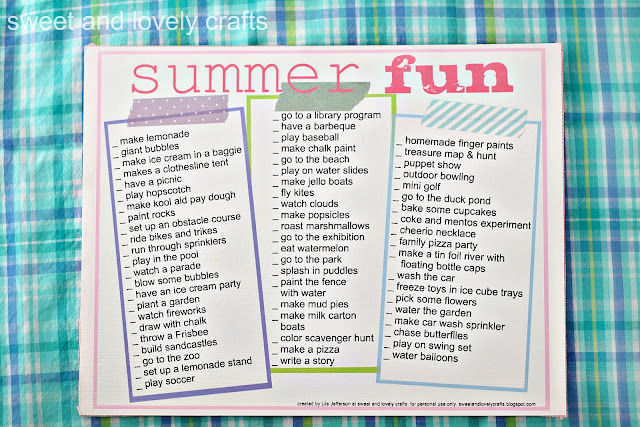 summer fun printable printables mom summer vacation