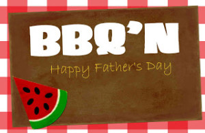 Fathers bbq card