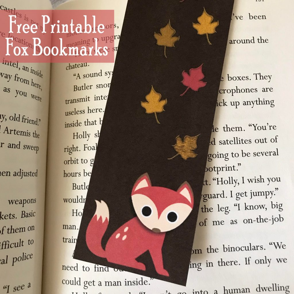 Printable Fox Bookmarks Free Printable Fall Gift for Kids