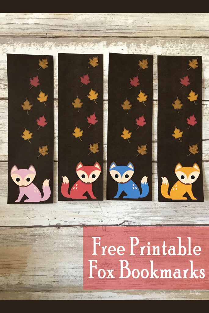 Printable Fox Bookmarks Fall Freebie