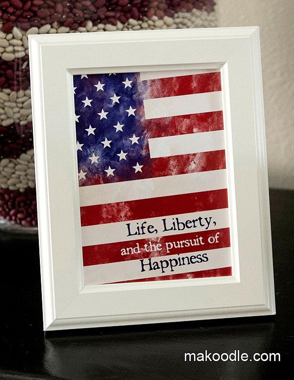 Free Printable 4th Of July Art Print Subway Gift Freedom America Flag Quote Printables 4 Mom