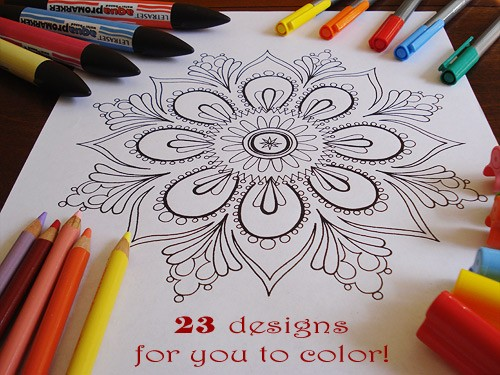 Free printable coloring pages kids adult t cheap frugal craft ideas