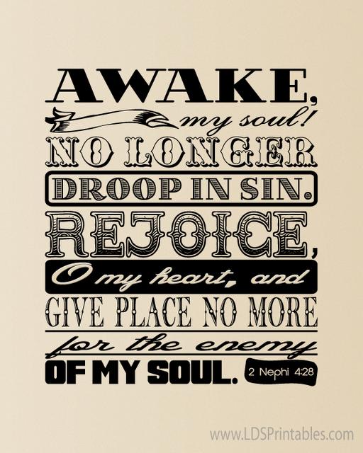 Awake And Rejoice LDS Art Printable