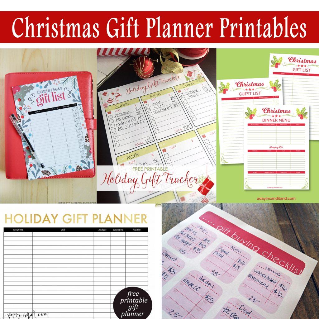 Christmas Gift Planner: Printable Gift Planner Worksheet