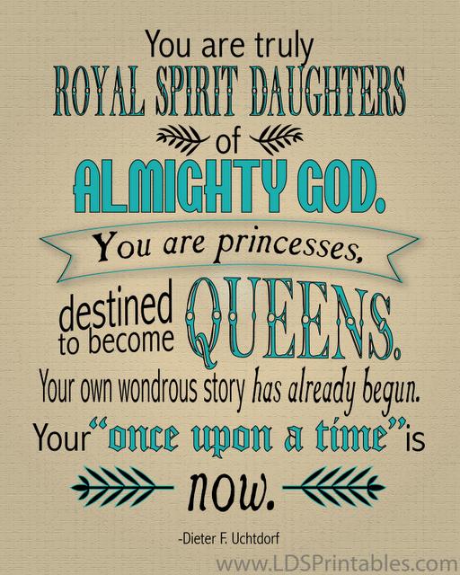 You are Princesses Printable LDS Art Print - Printables 4 Mom