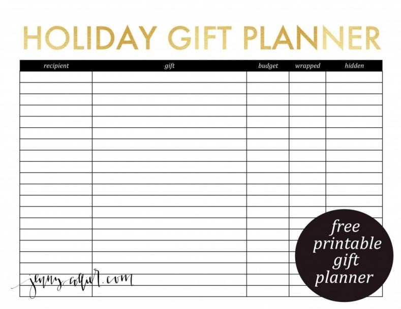 Printable Gift Planner Worksheet Printables 4 Mom