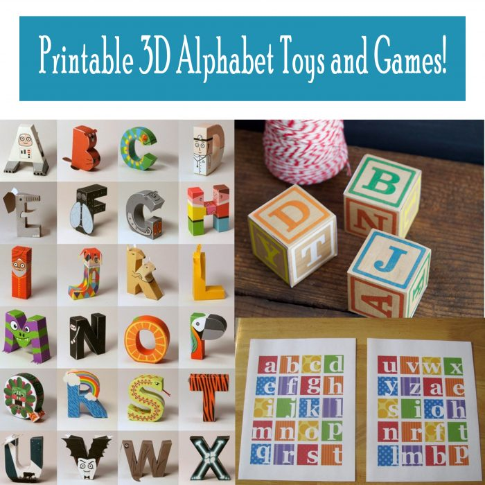 graphic regarding Printable Toy identify Printable 3D Alphabet Toys and Online games! - Printables 4 Mother