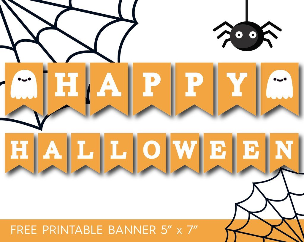 It is a photo of Gargantuan Happy Halloween Banner Printable