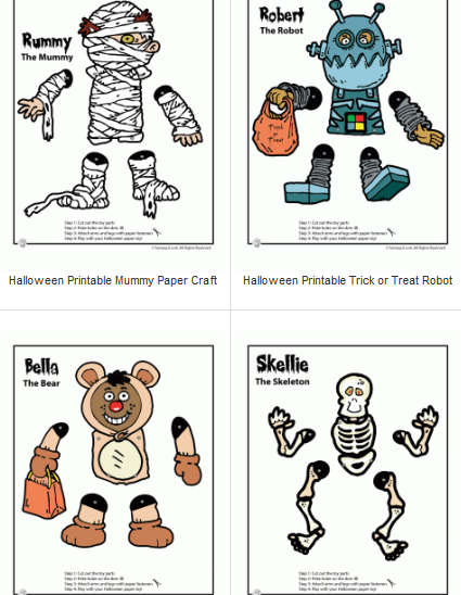 Printable Halloween Crafts For Kids Printable halloween - Printable Halloween Decorations