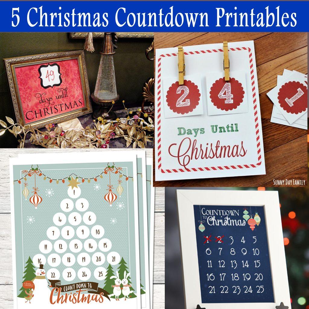 Days Until Christmas Printable.Free Christmas Countdown Printable Printables 4 Mom