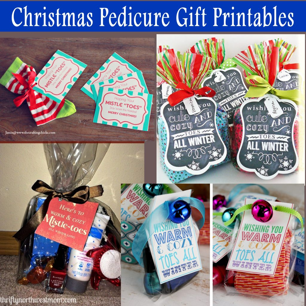 photograph relating to For Your Mistletoes Printable Tags called Xmas Pedicure Present Tag Printables - Printables 4 Mother