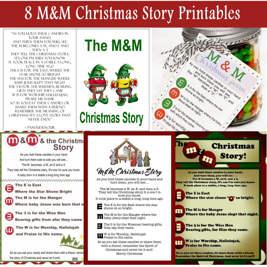The M&M Christmas Story - Over 8 Free Printables