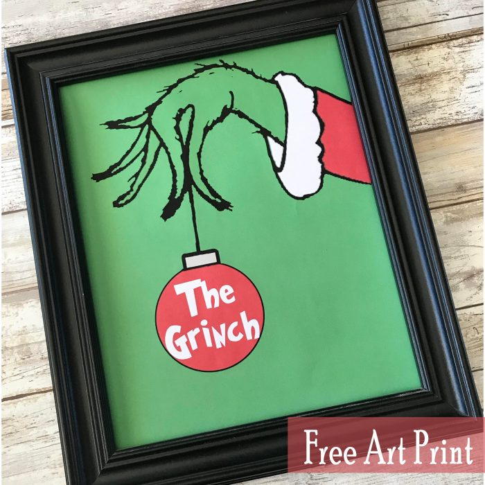 The Grinch Free Art Printable for