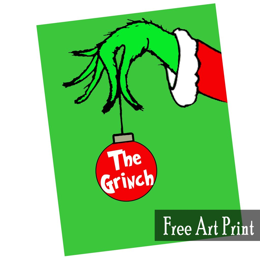 photo relating to Grinch Printable Template known as The Grinch Free of charge Artwork Printable for Xmas - Printables 4 Mother