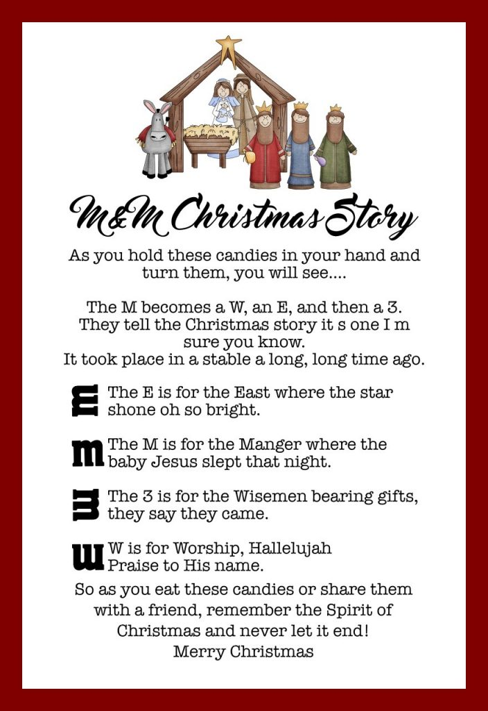 photograph about Free Printable Christmas Story identify The MM Xmas Tale - Previously mentioned 8 Free of charge Printables