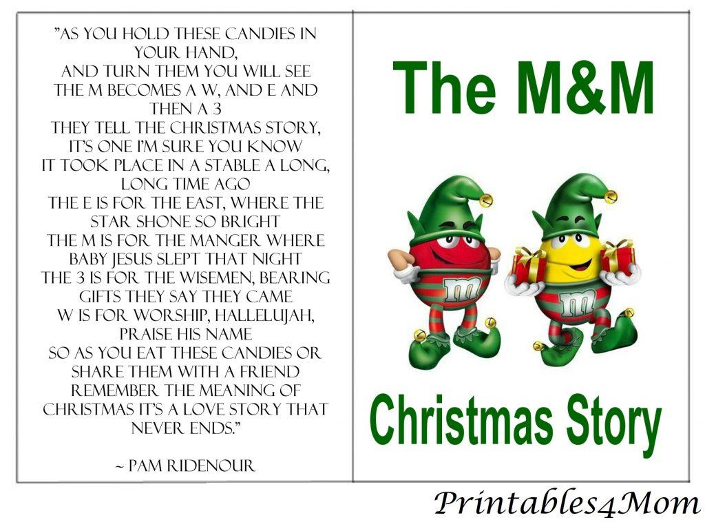 graphic regarding Free Printable Christmas Story identified as The MM Xmas Tale - Around 8 Absolutely free Printables