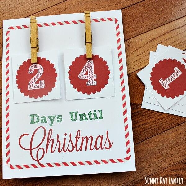 free christmas countdown printable - Countdown To Christmas