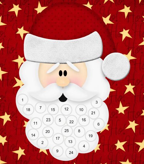 photograph relating to Printable Beard known as Santas Beard Arrival Calendar - Printables 4 Mother