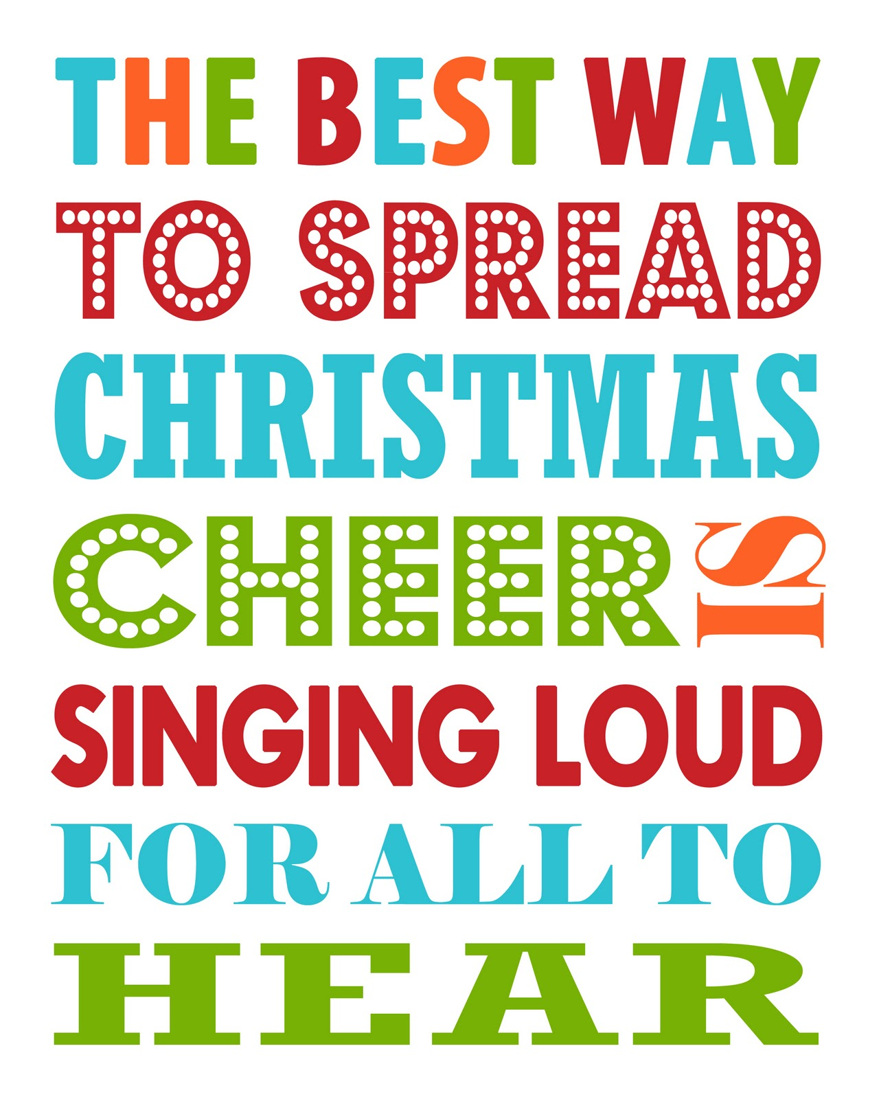 free printable Christmas Cheer2 the best way to spread christmas