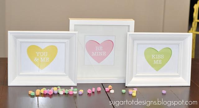 Printable Conversation Heart Art Set