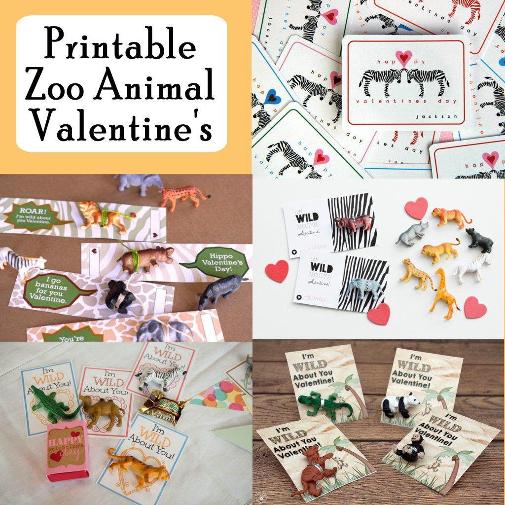 Zoo Animal Printable Valentine's. Free Zoo Animal printable Valentine's Day Cards