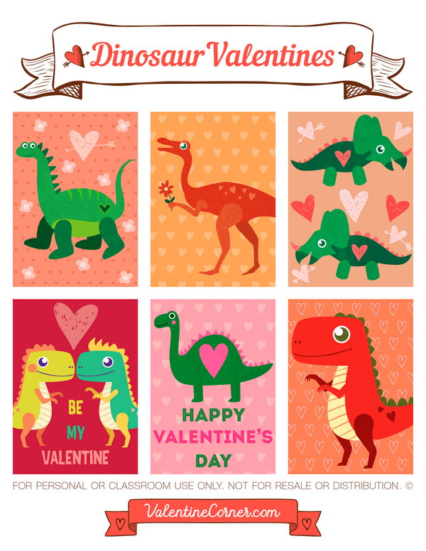 picture about Free Printable Dinosaur referred to as Printable Dinosaur Valentines - Printables 4 Mother