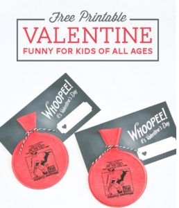 whoopee cushion free printable valentine's day gift idea cheap free frugal dollar store download print