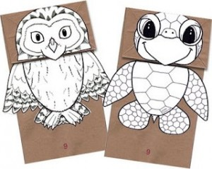 puppet paper free printable craft kids entertain book craft