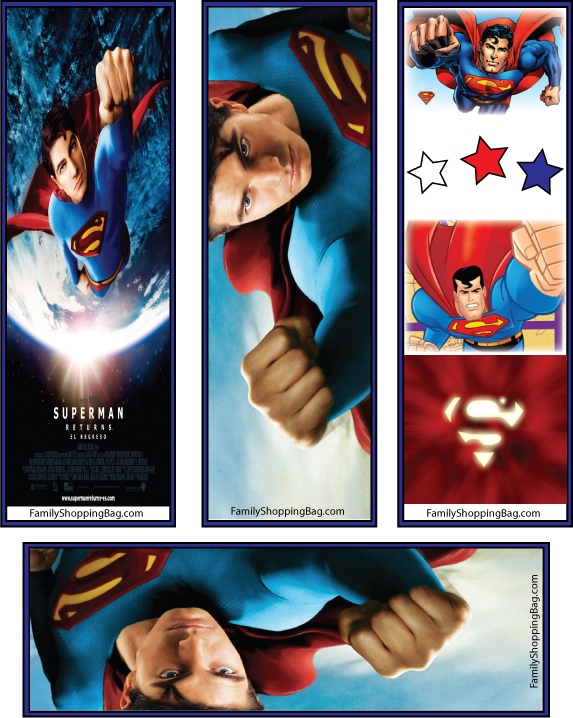 Superman_Bookmarks_free printables superman trailer