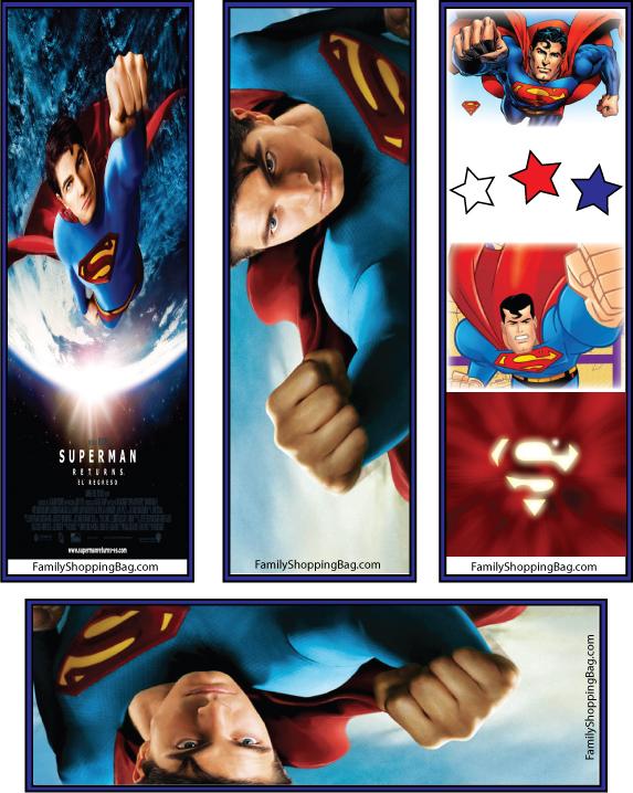 Superman Bookmark Freebies Printables 4 Mom