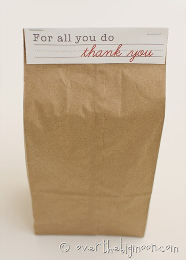 thank you teacher appreciation day week free printable paper bag cheap free frugal gift idea