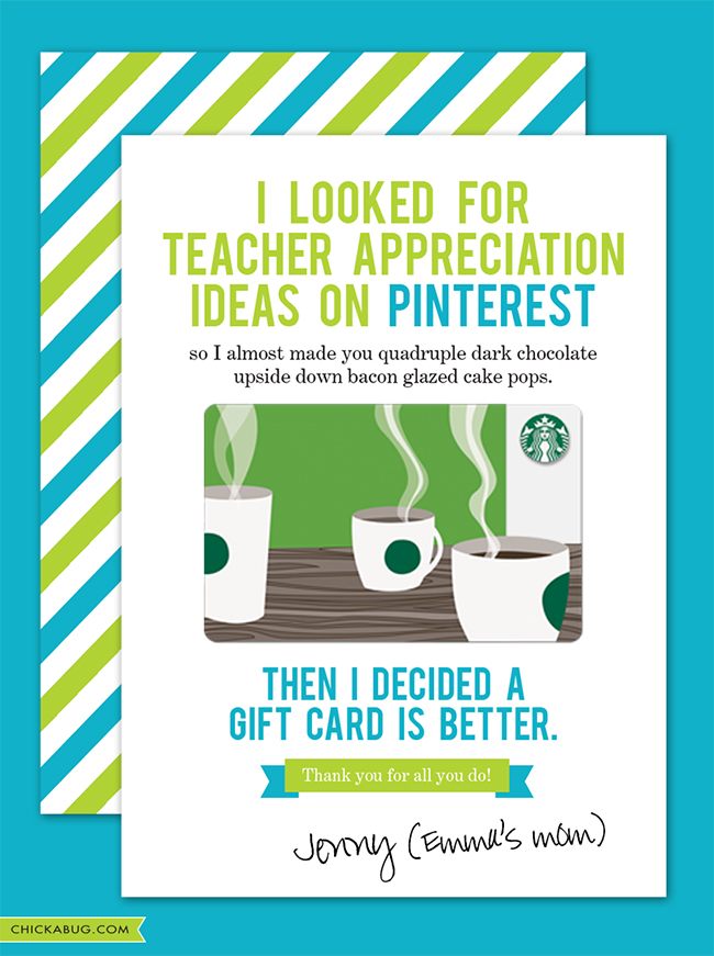 free printable teacher appreciation week frugal cheap gift idea