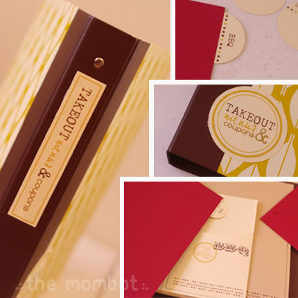 takeout-menu-coupon-binder free frugal cheap mother's day gift idea