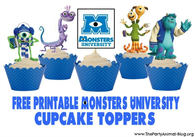 Monsters University Printable Cupcake Toppers Printables