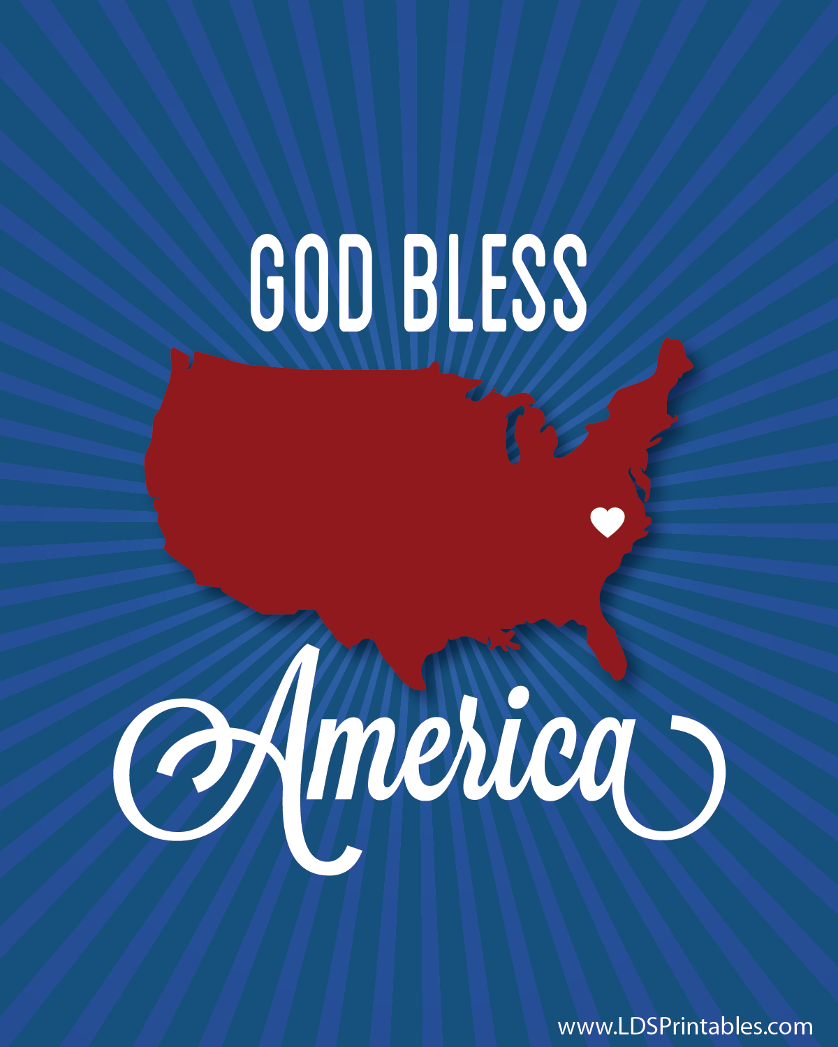 god bless america free printable art print set fourth of july 4th of july americana decor home cheap frugal gift idea hostess