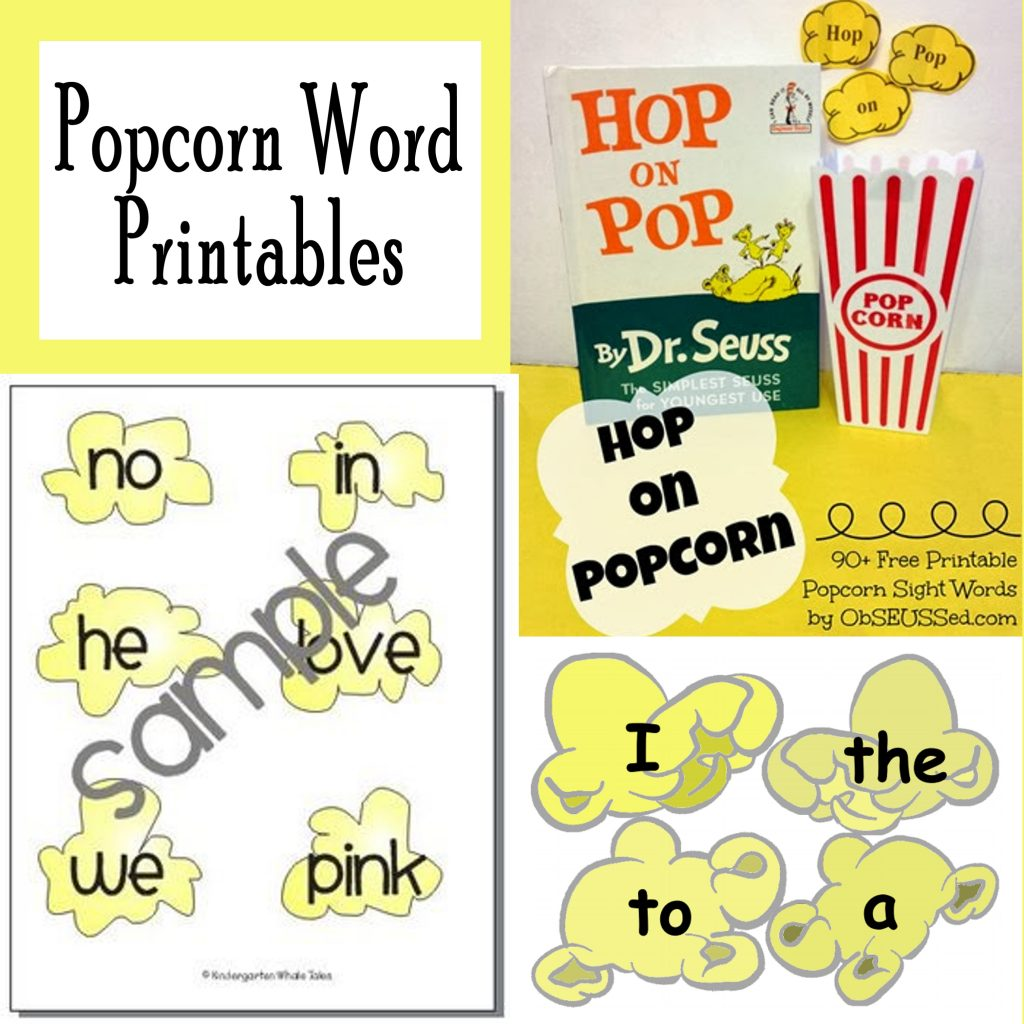 picture regarding Sight Words Printable named Printable Popcorn Sight Phrases No cost Printables - Printables 4 Mother