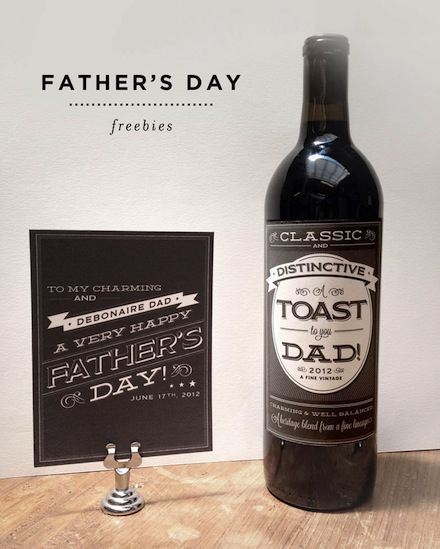 wine and beer father's day labels soda drink coca cola free printable cheap frugal quick diy homemade gift idea dad