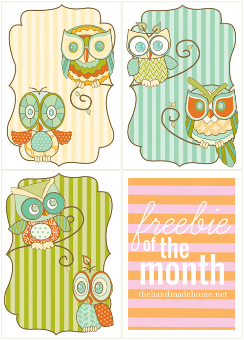 free printable owl art owls set cheap free frugal gift ideas decorations diy tutorial